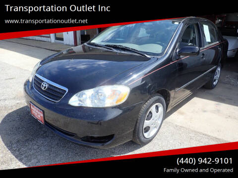 2005 Toyota Corolla for sale at Transportation Outlet Inc in Eastlake OH