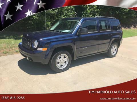 2014 Jeep Patriot for sale at Tim Harrold Auto Sales in Wilkesboro NC