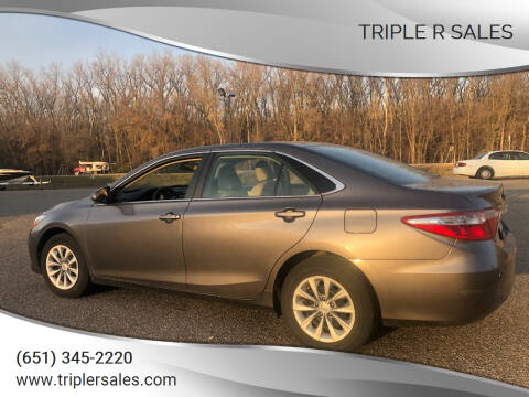 2015 Toyota Camry for sale at Triple R Sales in Lake City MN
