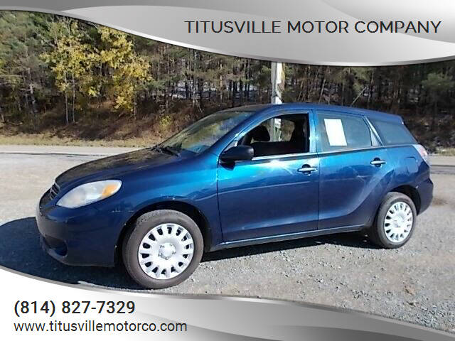 2006 Toyota Matrix for sale at Titusville Motor Company in Titusville PA