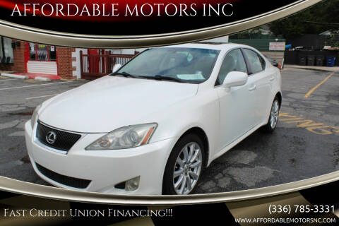 2007 Lexus IS 250 for sale at AFFORDABLE MOTORS INC in Winston Salem NC