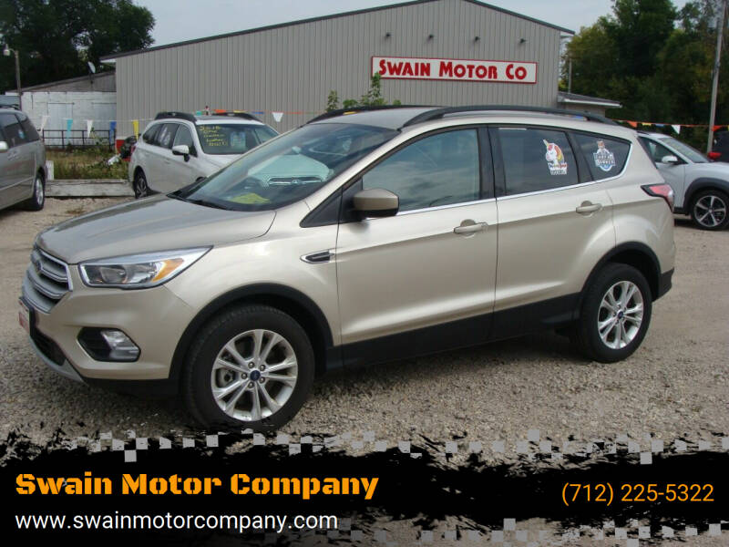 2018 Ford Escape for sale at Swain Motor Company in Cherokee IA