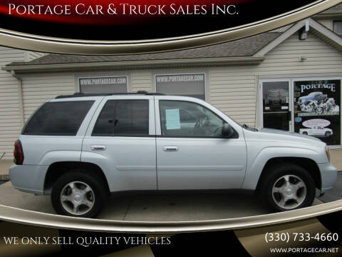 2008 Chevrolet TrailBlazer for sale at Portage Car & Truck Sales Inc. in Akron OH