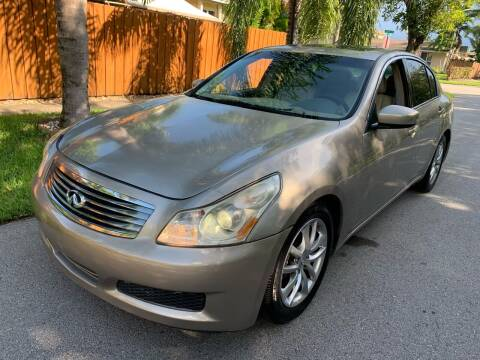 2009 Infiniti G37 Sedan for sale at FINANCIAL CLAIMS & SERVICING INC in Hollywood FL