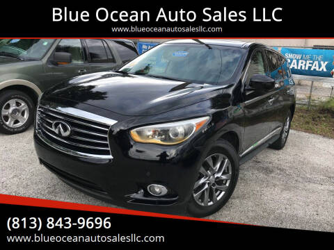 2013 Infiniti JX35 for sale at Blue Ocean Auto Sales LLC in Tampa FL