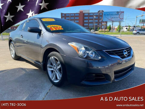 2010 Nissan Altima for sale at A & D Auto Sales in Joplin MO