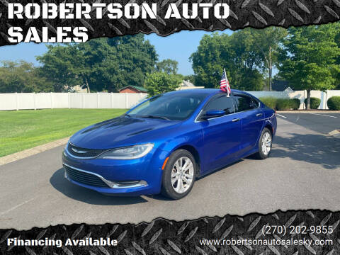 2015 Chrysler 200 for sale at ROBERTSON AUTO SALES in Bowling Green KY