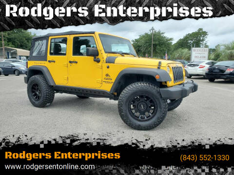 2015 Jeep Wrangler Unlimited for sale at Rodgers Wranglers in North Charleston SC