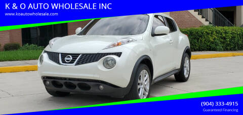 2011 Nissan JUKE for sale at K & O AUTO WHOLESALE INC in Jacksonville FL