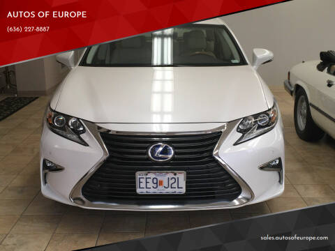 2016 Lexus ES 300h for sale at AUTOS OF EUROPE in Manchester MO