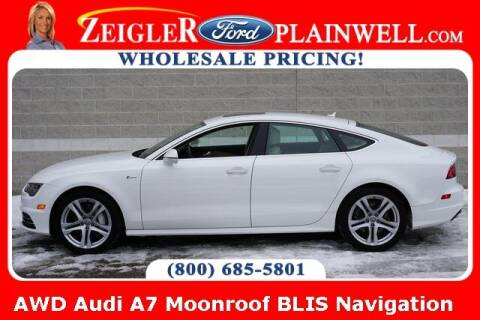 2018 Audi A7 for sale at Zeigler Ford of Plainwell- Jeff Bishop in Plainwell MI