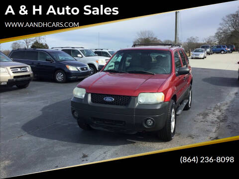 2005 Ford Escape for sale at A & H Auto Sales in Greenville SC