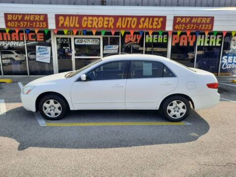 2005 Honda Accord for sale at Paul Gerber Auto Sales in Omaha NE