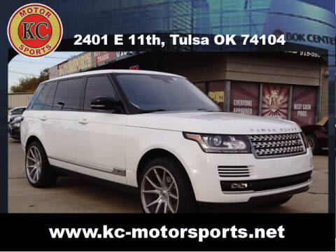 2015 Land Rover Range Rover for sale at KC MOTORSPORTS in Tulsa OK
