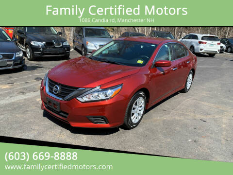 2016 Nissan Altima for sale at Family Certified Motors in Manchester NH