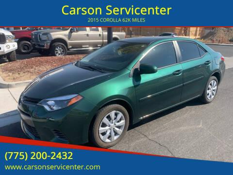 2015 Toyota Corolla for sale at Carson Servicenter in Carson City NV