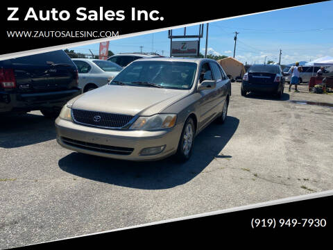 2000 Toyota Avalon for sale at Z Auto Sales Inc. in Rocky Mount NC