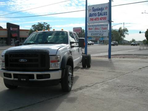 2008 Ford F-550 Super Duty for sale at Springs Auto Sales in Colorado Springs CO