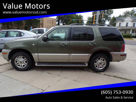 2003 Mercury Mountaineer for sale at Value Motors in Watertown SD