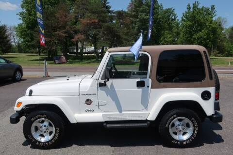 2002 Jeep Wrangler for sale at GEG Automotive in Gilbertsville PA
