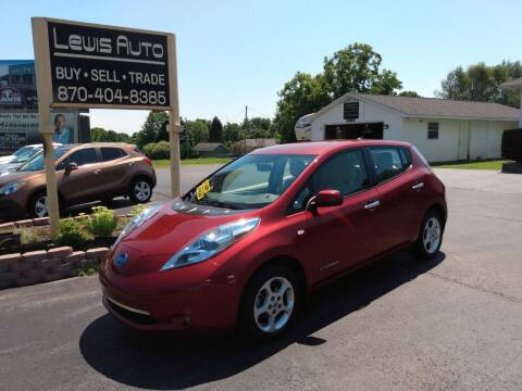 2012 Nissan LEAF for sale at LEWIS AUTO in Mountain Home AR