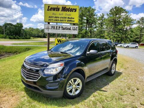2017 Chevrolet Equinox for sale at Lewis Motors LLC in Deridder LA
