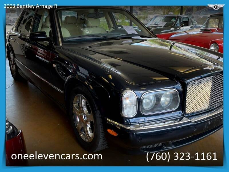 2003 Bentley Arnage for sale at One Eleven Vintage Cars in Palm Springs CA