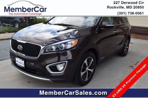 2017 Kia Sorento for sale at MemberCar in Rockville MD