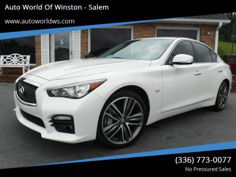 2016 Infiniti Q50 for sale at Auto World Of Winston - Salem in Winston Salem NC