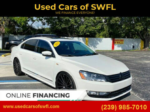 2014 Volkswagen Passat for sale at Used Cars of SWFL in Fort Myers FL