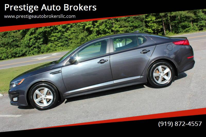 2015 Kia Optima for sale at Prestige Auto Brokers in Raleigh NC