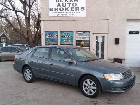 2004 Toyota Avalon for sale at De Kam Auto Brokers in Colorado Springs CO