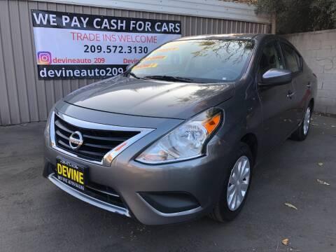 2019 Nissan Versa for sale at Devine Auto Sales in Modesto CA