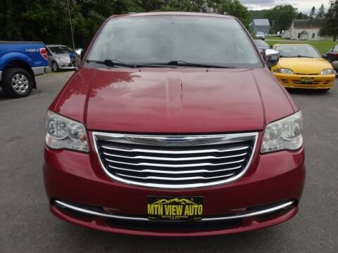 2013 Chrysler Town and Country for sale at MOUNTAIN VIEW AUTO in Lyndonville VT