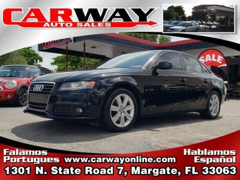 2011 Audi A4 for sale at CARWAY Auto Sales in Margate FL