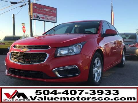 2016 Chevrolet Cruze Limited for sale at Value Motors Company in Marrero LA