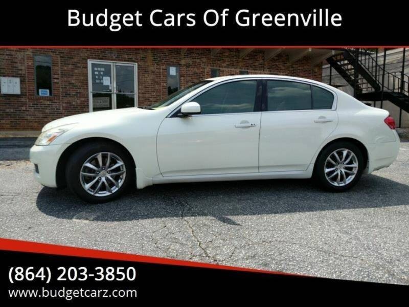 2007 Infiniti G35 for sale at Budget Cars Of Greenville in Greenville SC