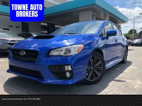 2015 Subaru WRX for sale at TOWNE AUTO BROKERS in Virginia Beach VA