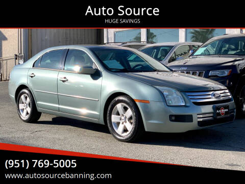2006 Ford Fusion for sale at Auto Source in Banning CA