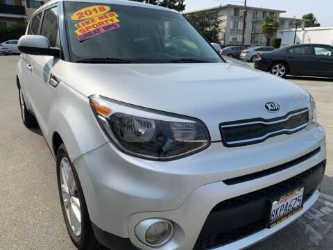 2018 Kia Soul for sale at San Mateo Auto Sales in San Mateo CA