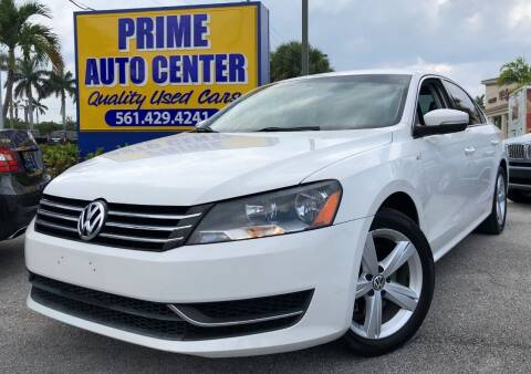 2014 Volkswagen Passat for sale at PRIME AUTO CENTER in Palm Springs FL