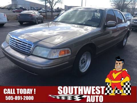 2001 Ford Crown Victoria for sale at SOUTHWEST AUTO in Albuquerque NM