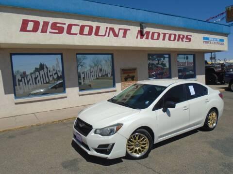 2015 Subaru Impreza for sale at Discount Motors in Pueblo CO