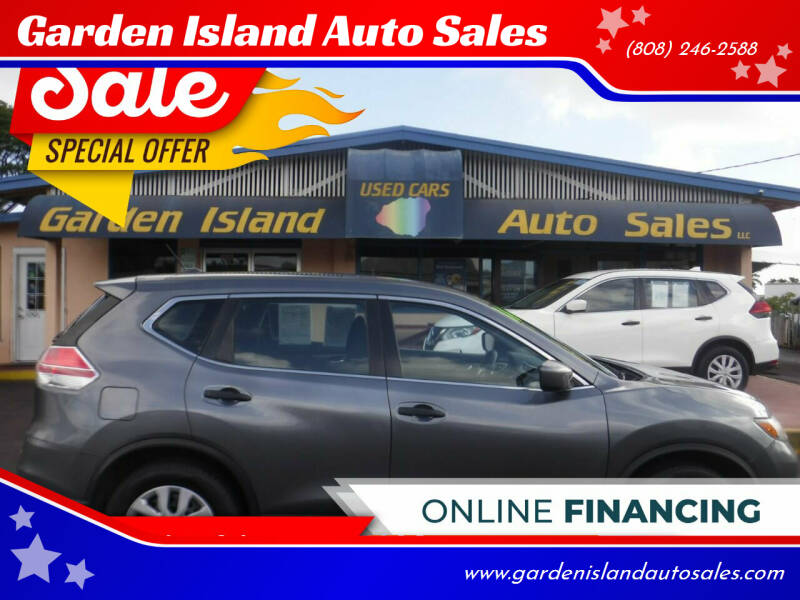 2016 Nissan Rogue for sale at Garden Island Auto Sales in Lihue HI