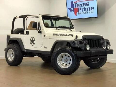 2002 Jeep Wrangler for sale at Texas Prime Motors in Houston TX
