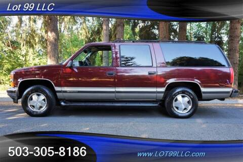 1999 Chevrolet Suburban for sale at LOT 99 LLC in Milwaukie OR