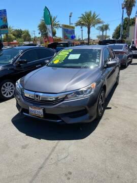 2016 Honda Accord for sale at 2955 FIRESTONE BLVD - 3271 E. Firestone Blvd Lot in South Gate CA