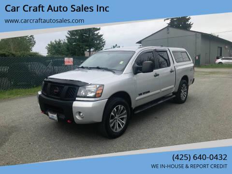2007 Nissan Titan for sale at Car Craft Auto Sales Inc in Lynnwood WA