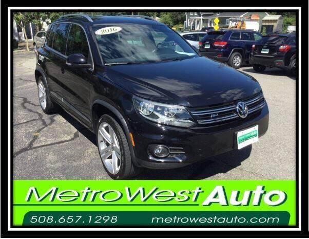 2016 Volkswagen Tiguan for sale at Metro West Auto in Bellingham MA