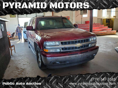2005 Chevrolet Suburban for sale at PYRAMID MOTORS - Pueblo Lot in Pueblo CO